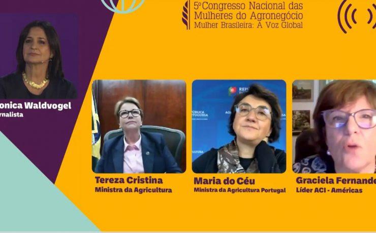 Ministra Tereza Cristina destacou acordo União Europeia-Mercosul e importância do cooperativismo durante abertura do 5º CNMA